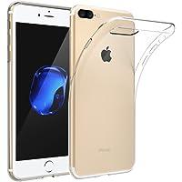iPhone 8 Plus Kılıf Kapak 0.2 mm Şeffaf Silikon + Temperli Kırılmaz Cam Ekran Koruyucu