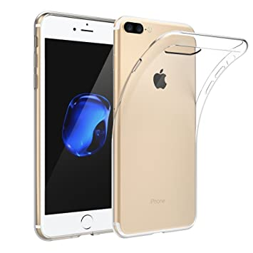 XTCASE Funda iPhone 8 Plus / 7 Plus Silicona Transparente, Ultrafina Suave TPU Carcasa para iPhone 7 Plus / 8 Plus Delgado Flexible Protectora Case ...