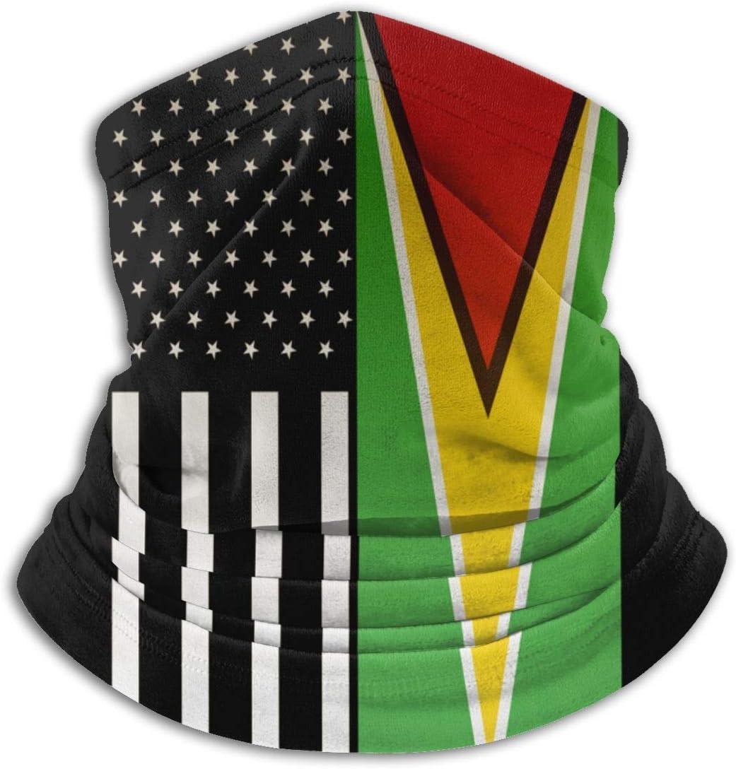Retro EE. UU. Bandera de Guyana Invierno Calentador de Cuello Polaina/pasamontañas esquí Cara Cubierta Cuello Polaina Tubo, Calentador de Orejas Diadema Sombreros Sombreros