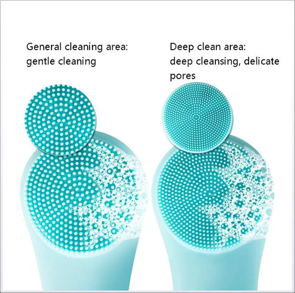 Electric Silicone Facial Deep Cleansing Brush Face Massager Pore Cleaning Relieve Facial Skin Problems IPX7 Level Waterproof by RSTJPG (Image #3)