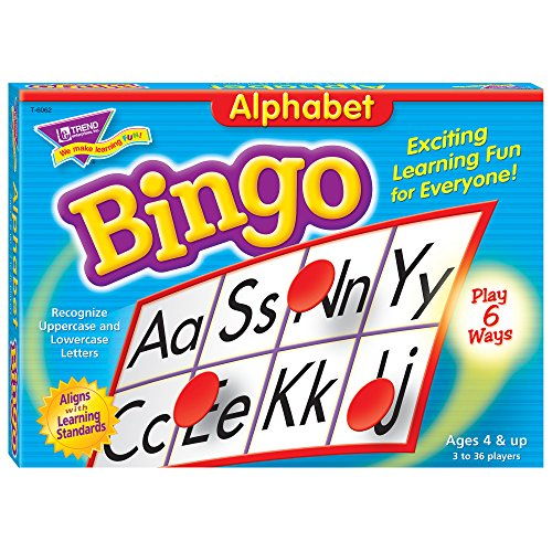 Alphabet Bingo Games - Card Alphabet Games
