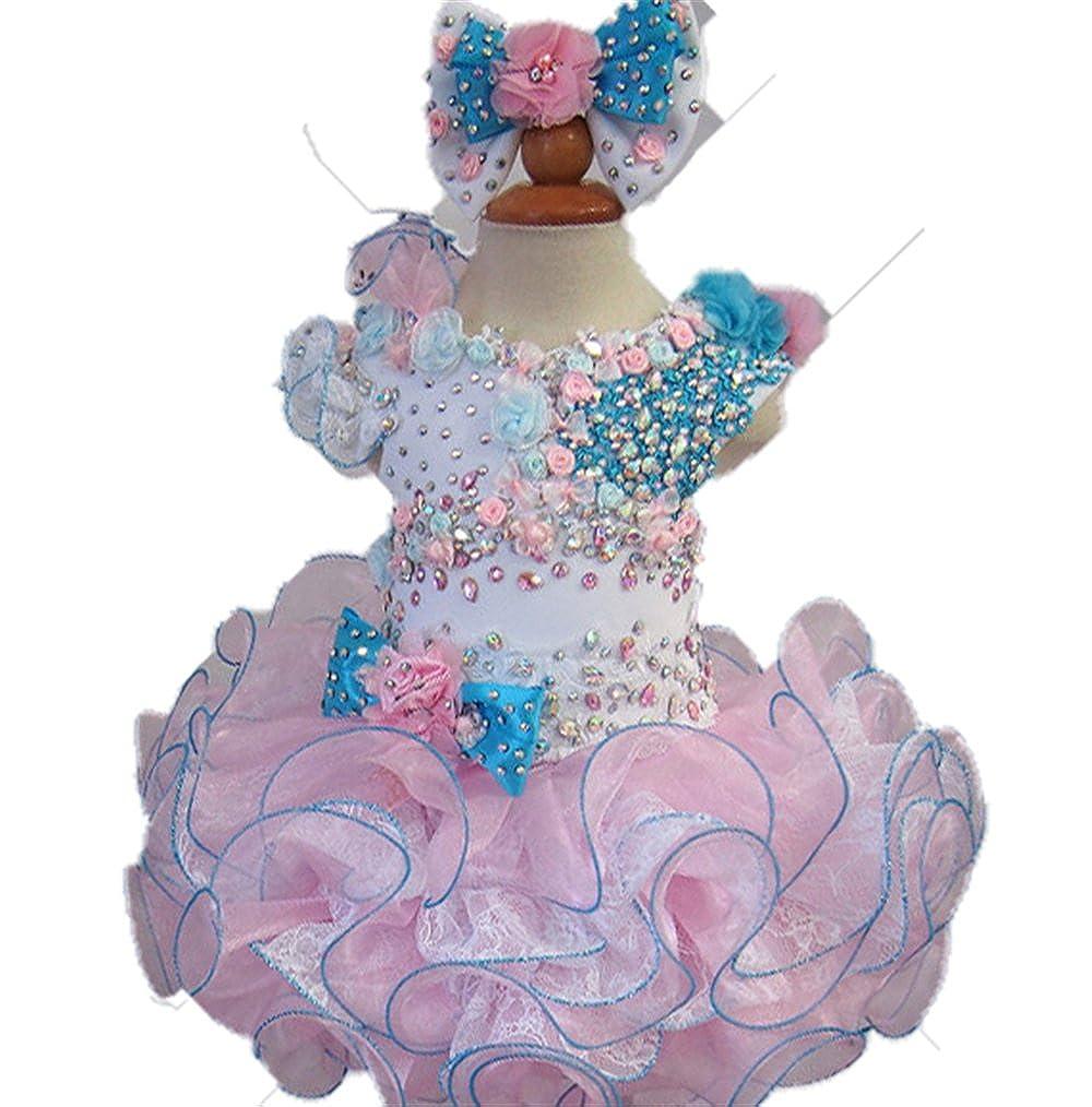 Jenniferwu Infant Toddler Baby Newborn Little Girls Pageant Party Birthday Dress 3months to size7 G102