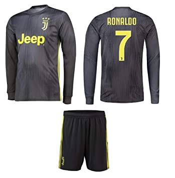 brand new a6b68 e9c7a Juventus Away Ronaldo Kids #7 Soccer Kit Jersey and Shorts All Youth Sizes