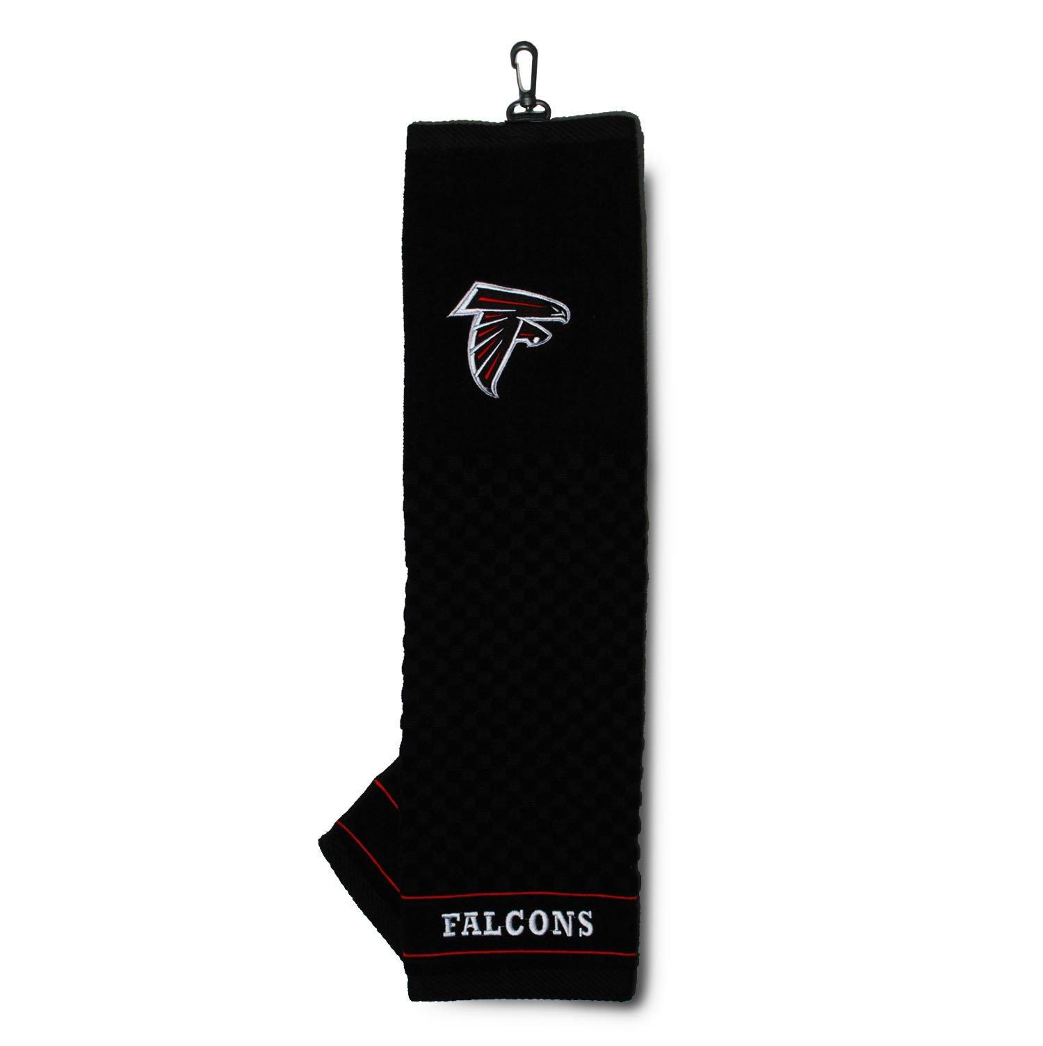 Team Golf NFL Atlanta Falcons Embroidered Golf Towel, Checkered Scrubber Design, Embroidered Logo