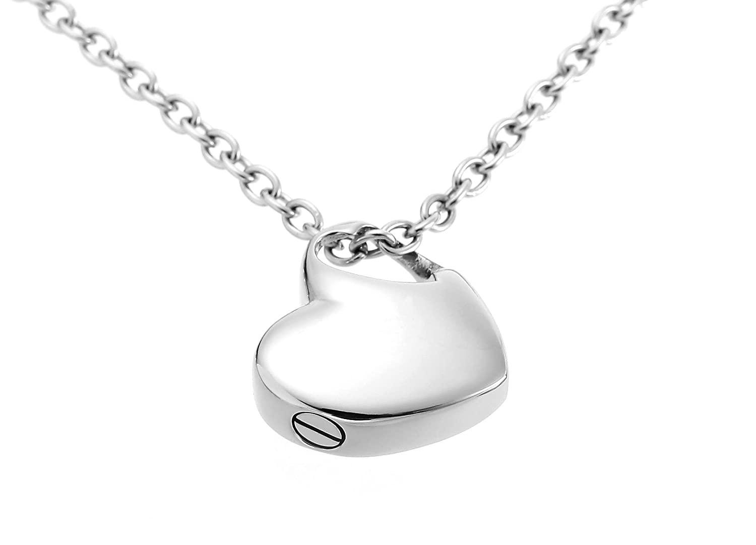 a0655aea6ae Amazon.com  Hold My Heart Pendant Cremation Urn Jewelry Necklace with  Funnel Filler Kit Ashes Keepsake Memorial  Jewelry