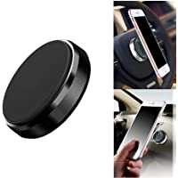AJO Black High Power Magnet Universal Car Phone Holder Aluminum Alloy Magnetic Plate Mount Multi Use Key Stand, Remote Holder, Mobile Holder, Mobile Charging Stand