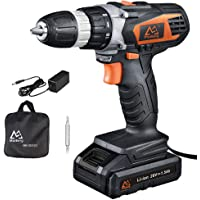 MaiBerg 20V Cordless Drill with 1.5Ah Batteries, Fast Charger 1.3A, 18+1 Torque Setting, 2-Variable Speed Max Torque 250 In-lbs, 3/8