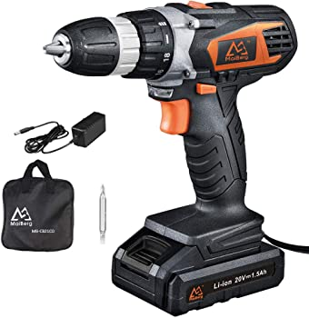 MaiBerg 20V Cordless Drill Driver with Battery & Charger