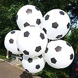 TOYXE® 40009 Toy Balloon Football Printed - White (Pack of 30)