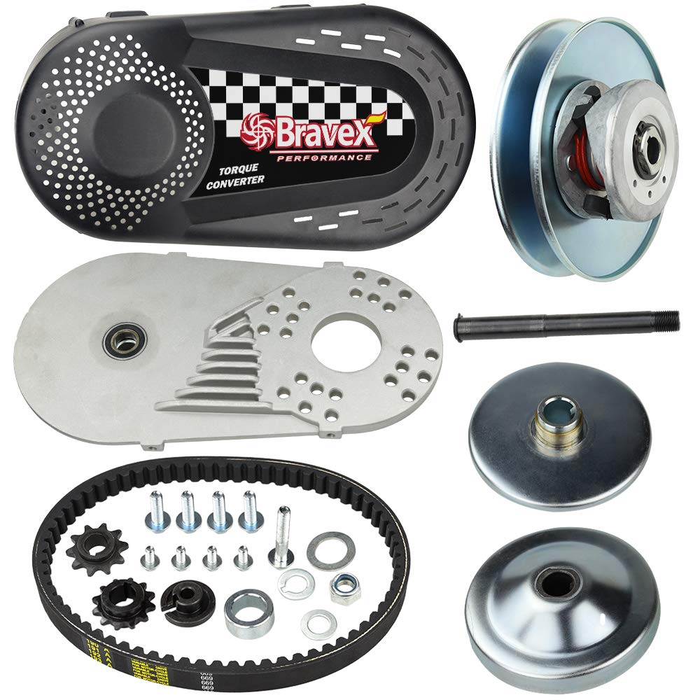 Torque Converter Go Kart Clutch Set 3/4'' 10T 40/41 and 12T 35 Chain for Manco Comet TAV2 (30 Series) by Megaflint
