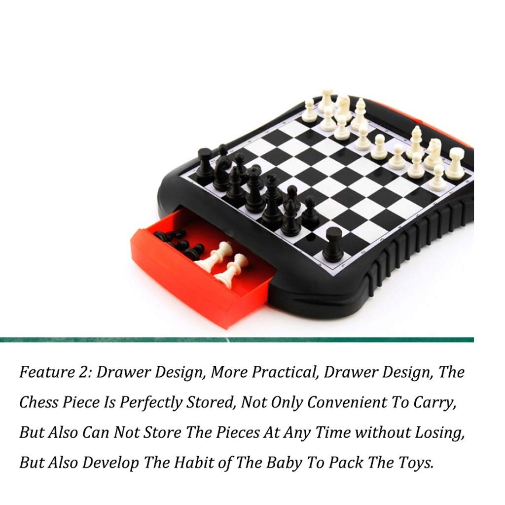 Magnetic Chess Chess Set Enfants /Étudiants d/ébutants d/échecs /Échiquier Portable Pliant tiroir Bo/îte de Rangement Aimant de Jeu d/échecs