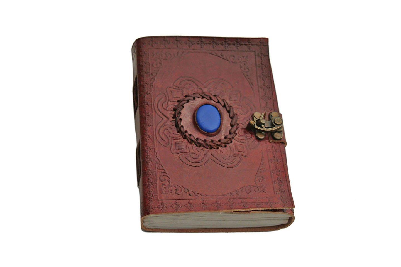 SZCO Supplies Blue Onyx Leather Journal