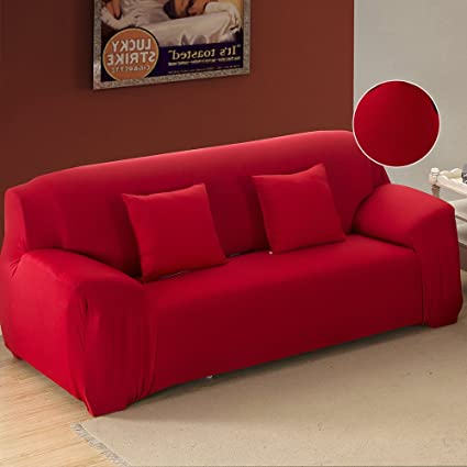FP 3 Cushion Sofa Cover 1 Piece Polyester Spandex Fabric Couch Cover  Protector Stretch Arm