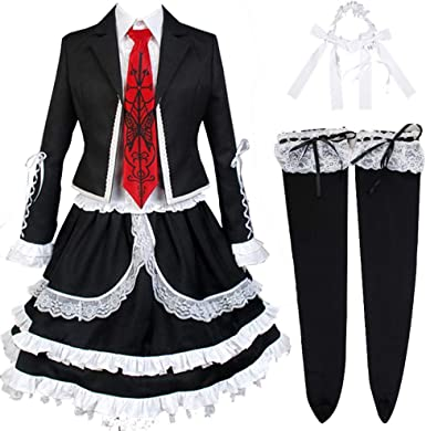 Amazon.com: Beiqu Danganronpa Cosplay Celestia Ludenberg Halloween Cosplay  Costume School Uniform JK Suits: Clothing