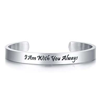 Daesar Pulsera Acero Inoxidable Mujer Pulsera I Am with You ...