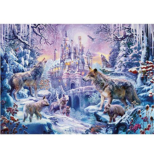 CHengQiSM 1000 Piece Jigsaw Puzzle - Winter Snow Wolf Pack Jigsaw Puzzle for Kids Adult Man Women Teens Reduced Pressure Toy Gift - Learning and Education Toys Gift Puzzles Children's Day Gift