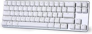 Mechanical Keyboard Gaming Keyboard Brown Switch 68-Keys Mini Design (60%) Gaming Wired Keyboard White Magicforce by Qisan