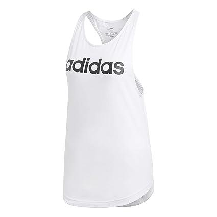 Adidas W E Lin Loos Tk Camiseta de Tirantes, Mujer, Blanco/Negro, XS