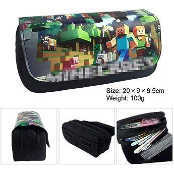 Minecrafter My World - Estuche para lápices con diseño 3D de Tela de Poliuretano, Gran Capacidad, Fiesta para niños, 2: Amazon.es: Deportes y aire libre