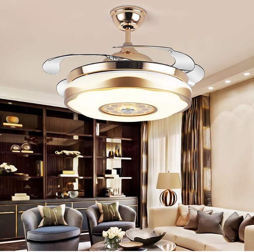 Ventiladores De Techo Con Luces,ventilador De Techo Invisible Moderno Led De 36w Plafon Con Mando A Distancia Para El Dormitorio-a 107x40cm(42x16inch)