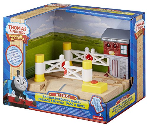 Fisher-Price Thomas & Friends Wooden Railway, Deluxe Railroad Crossing Signal - Battery Operated