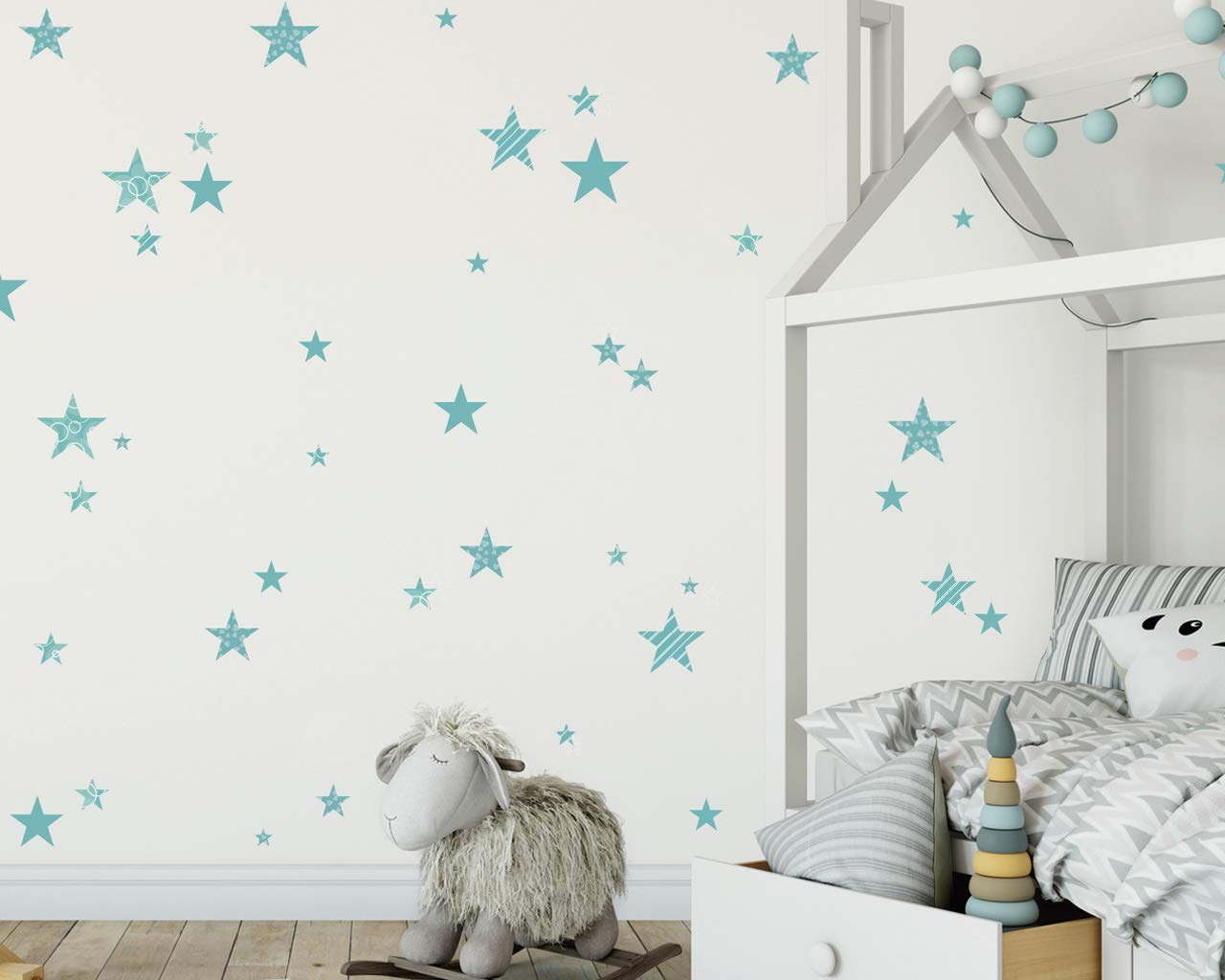 Stars Wall decals girl Wall Stickers Bambine Adesivi Murali Nursery Camerette Bimba Kit Stelle