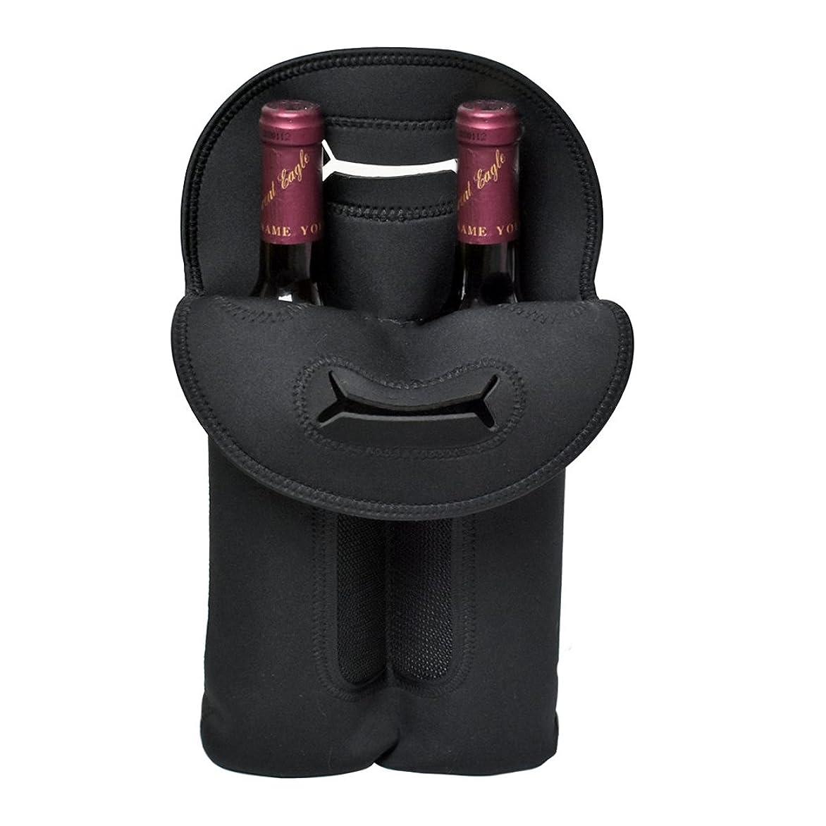 今アパート生き残りAnberotta アンティーク調 ワインバッグ 木製 シャンパン ボトルバッグ 収納 ケース 持ち運び 手提げ袋 選べるタイプ W50