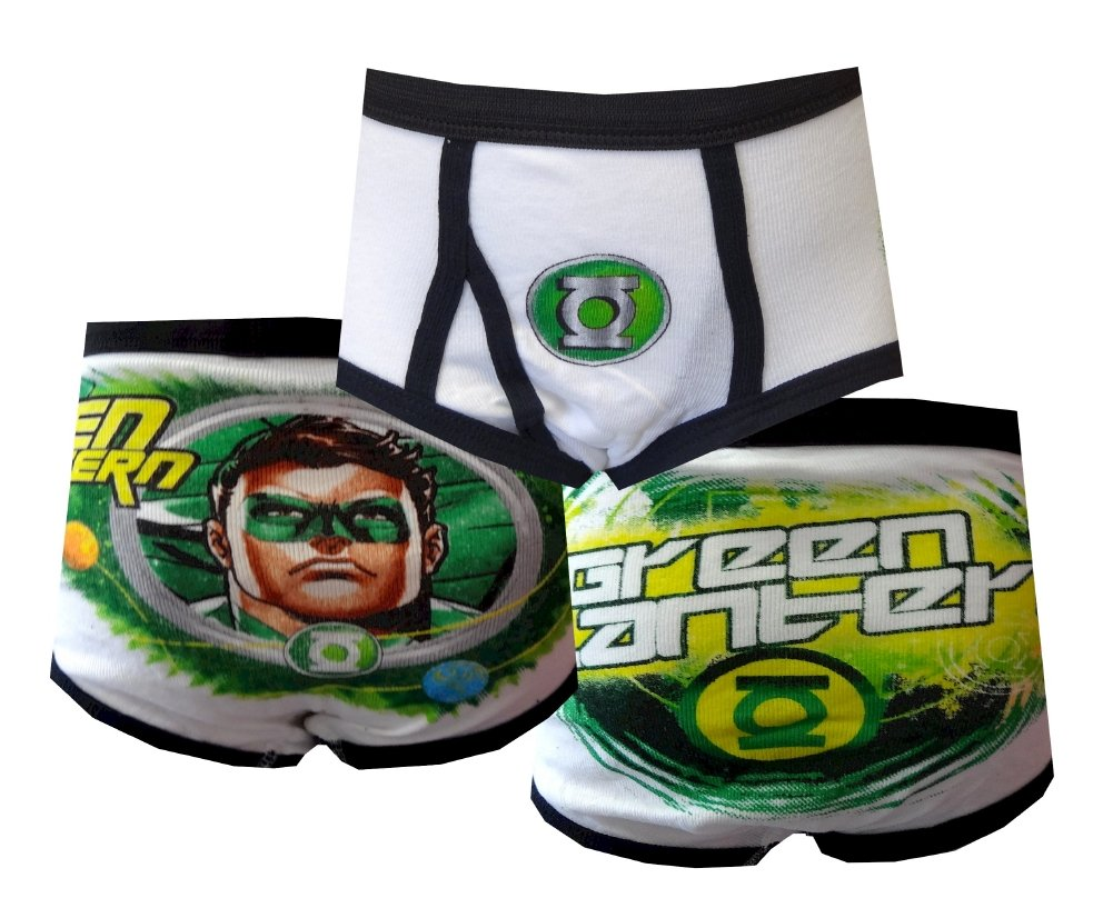 Fruit of the Loom Little Boys' Green Lantern Briefs, Assorted, 6(Pack of 3)