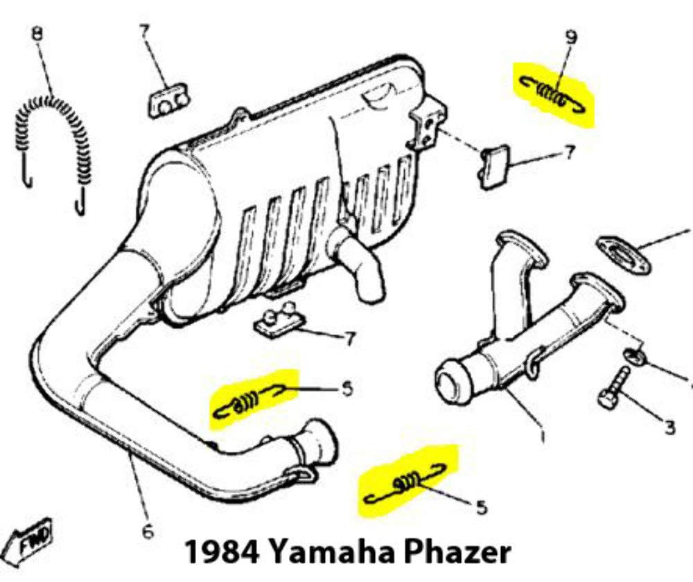 custom assembled snowmobile exhaust spring replacement kit for yamaha phazer:  amazon ca: sports & outdoors