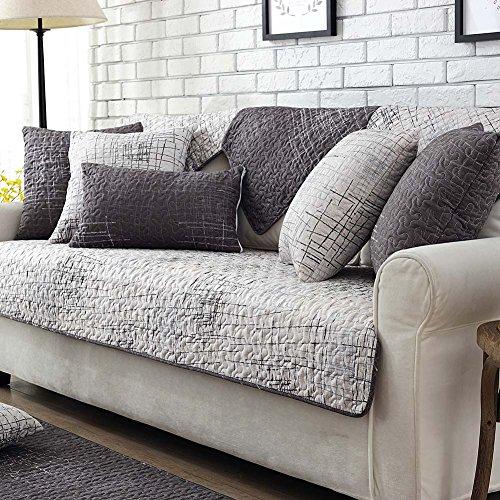 Lesic-100-Cotton-Dark-Grey-Anti-slip-Concise-Style-Sofa-Furniture-Protector