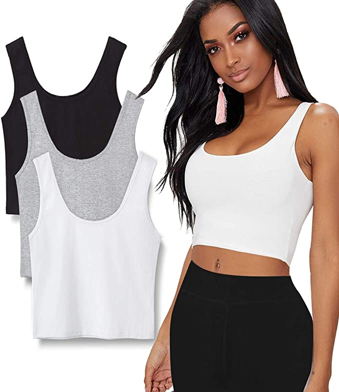 1//6 Scale Crop Tank Tops Sleeveless for 12/'/' HT DML DID TTL Female Body