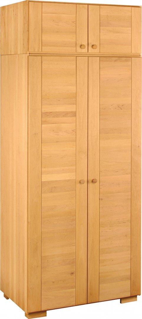 BioKinder 23361 Kai Spar Set Kleiderschrank 2türig mit Aufsatz aus Massivholz Erle