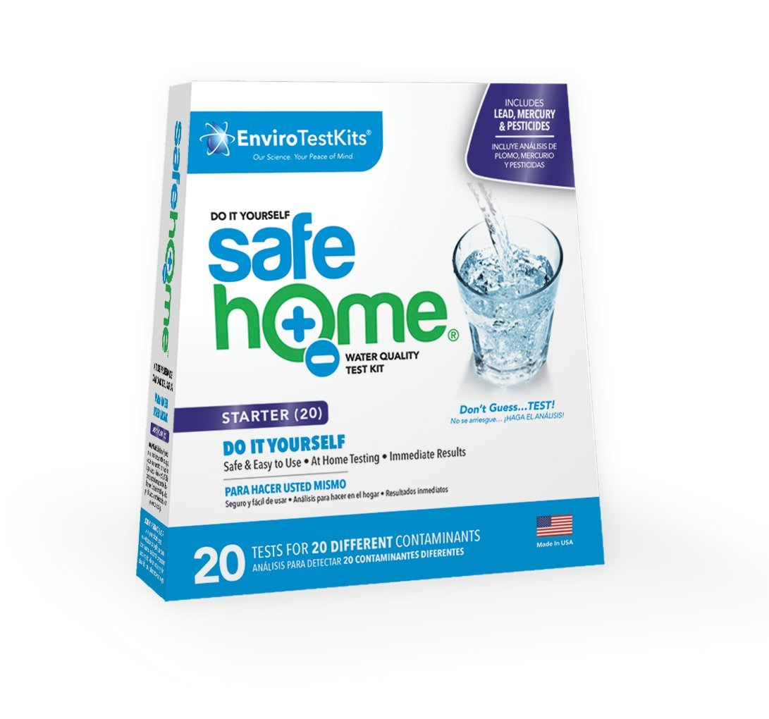Safe Home STARTER 20 Water Quality Test Kit DIY Testing for 20 Different Contaminants