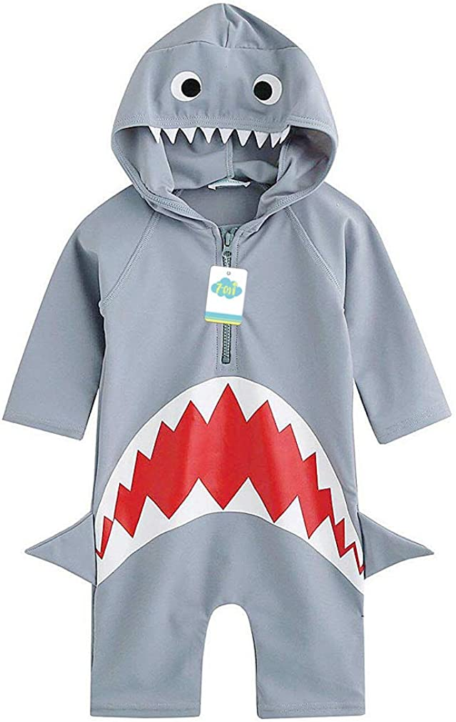 Kids One Piece Rash Guard Shirts 3D Shark//Alligator//Dinosaur Sunsuit Boy Swimsuits for 1 to 5 Years