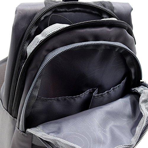 lumanuby hombro bolsa impermeable multifuncional paquete de gimnasio para hombres y mujeres al aire libre Ciclismo senderismo camping viaje paquete Casual Fashion Ultra–delgada bolsa de deporte, col Negro