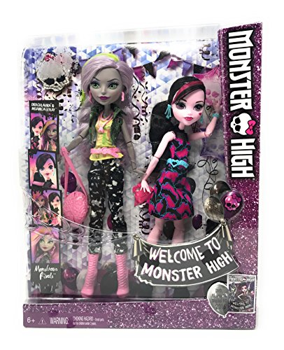 Monster From The Village Costume (Monster High Party Series 11 Inch Doll Set Welcome to Monster High Monstrous Rivals 2-Pk Dolls Draculaura and Moanica)