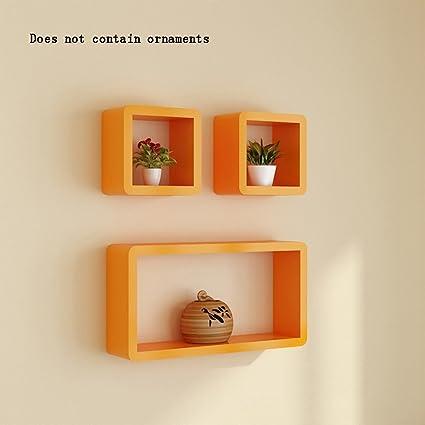 ALUS Creative Lattice Wood Based Panels Flower Racks Bookshelf Wall Shelf