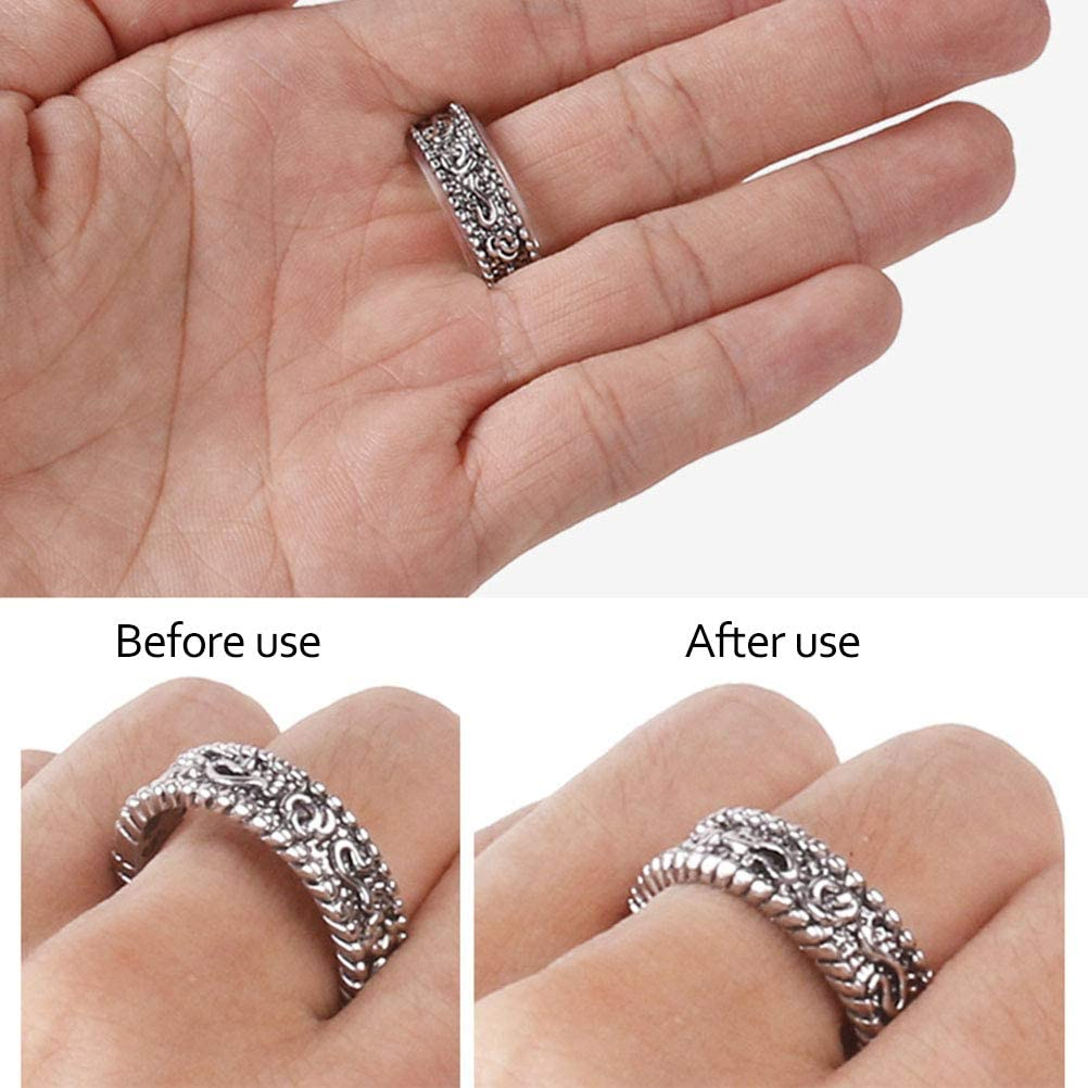 shenruifa Ring Sizer Adjuster Invisible Ring Size Adjuster for Loose Rings 8 Size Ring Adjuster Sizer Fit Any Rings Ring Guard Spacer