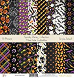 Pattern Paper Pack - Spooky - Scrapbook Card Stock Single-Sided 12''x12'' Collection Includes 16 Sheets - by Miss Kate Cuttables