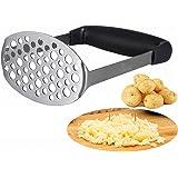 Potato Masher - Smaier Smooth Potato Masher Stainless Steel potato press Designed for Delicate Potato Mud