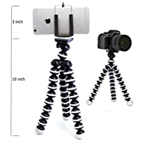 King Shine Flexible Mini Tripod (10 Inch Height) for Camera, DSLR and Smartphones with Universal Mobile Attachment