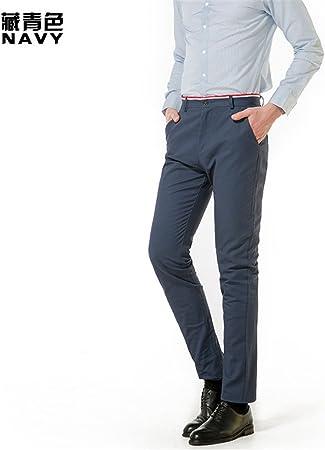 La Primavera Y El Verano Para Hombres La Moda Juvenil Pantalones Para Hombres Azul Oscuro 30 Amazon Es Deportes Y Aire Libre