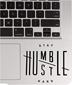 "Stay Humble Hustle Hard Decal Sticker MacBook Ipad Laptop iPhone Car Window (3.3"" inches, Black)"