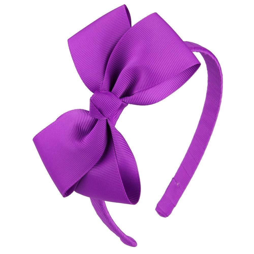 Spring hair bow girls hair bow lilac hair bow blue hair bow baby headband photo shoot prop tie bow