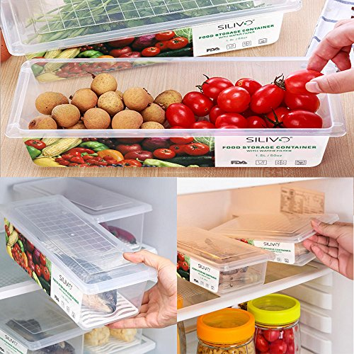 Vegetables Storage Containers Food storage containers 3 x 15l fridge organizer case with food storage containers 3 x 15l fridge organizer case with removable drain plate tray to keep fruits vegetables workwithnaturefo