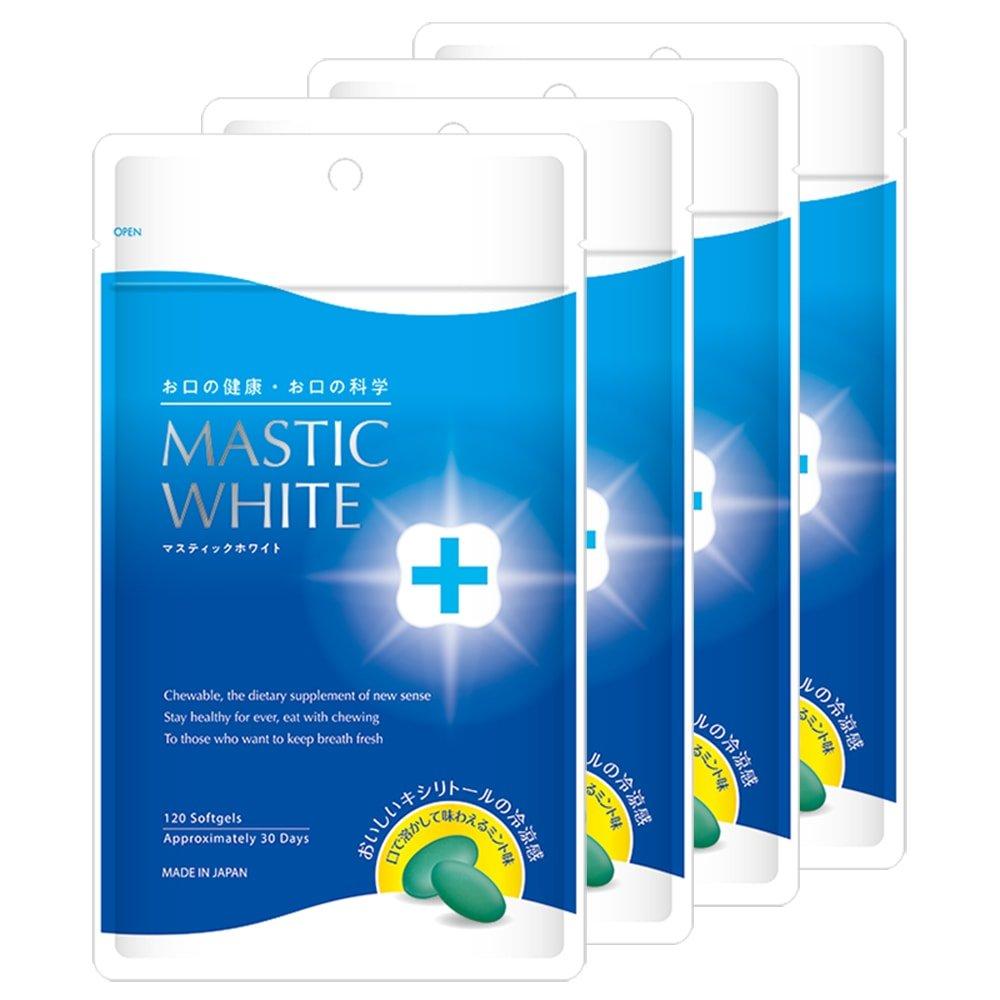 マスティックホワイト(4袋)480粒入約120日 B07DKBPPXN