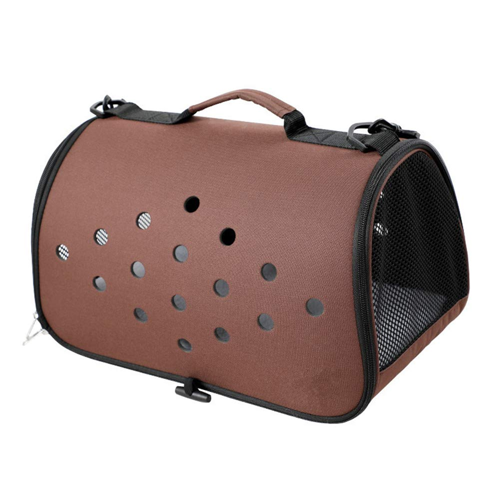 Brown GHH Pet Travel Bag Pet Carrier For Cat And Dog Airline Approved Large Space Lightweight Pet Bag Portable Pet Outing Travel Box