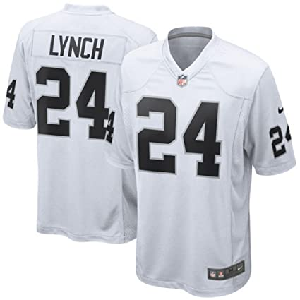 Image Unavailable. Image not available for. Color  Nike Men s Oakland  Raiders Marshawn Lynch White Game Jersey ... 71412acb7