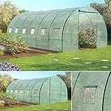 Probache - Serra grande a tunnel, da giardino, 7 archetti galvanizzati, 18 m², 6 x 3 x 2 m