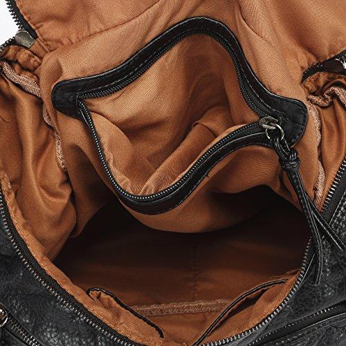 leather Mlife Shoulder PU Bag Soft Hobo Handbag Women Black FgwHqwWt
